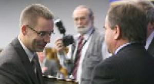 Prezes PTWP Wojciech Kuśpik ze Złotą Honorową Odznaką RIG