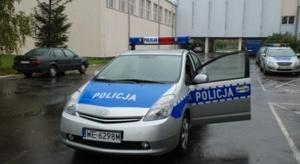Hybrydowy radiowóz na służbie w Łodzi