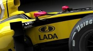Logo Łady na bolidzie Formuły 1