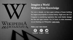 Pierwszy strajk internetowy. W środę zniknęła Wikipedia