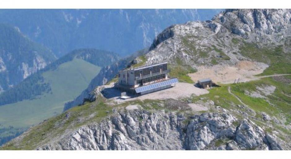 Pasywne schronisko w Alpach