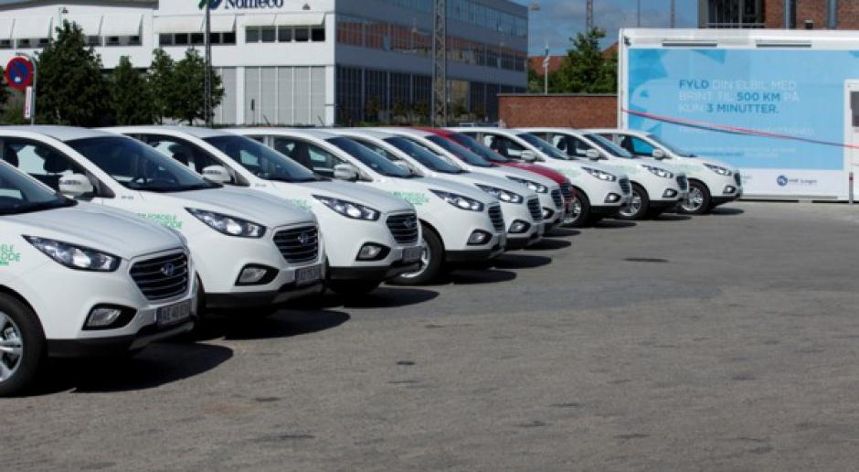 Hyundai przekazał Kopenhadze samochody na paliwo wodorowe