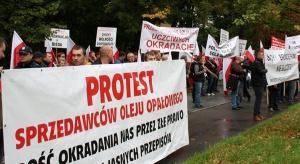Protest dystrybutorów paliw na ulicach Warszawy