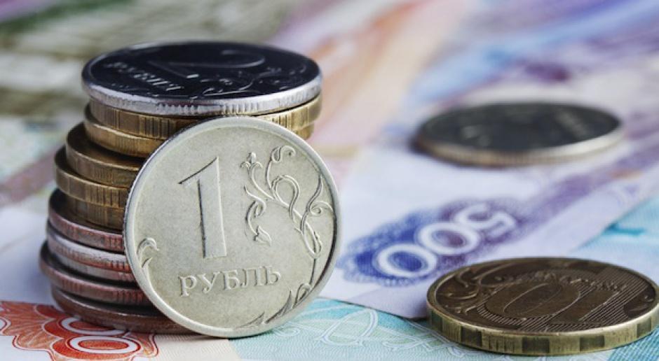 Spadek kursu rubla po decyzji Banku Rosji