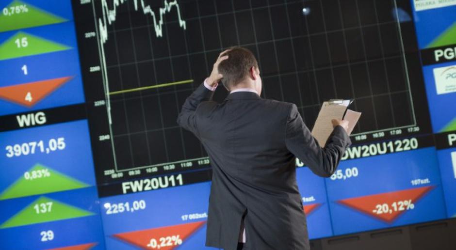 Ciężki czas dla banków na GPW