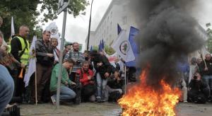 13 października górnicza demonstracja pod kopalnią Pokój