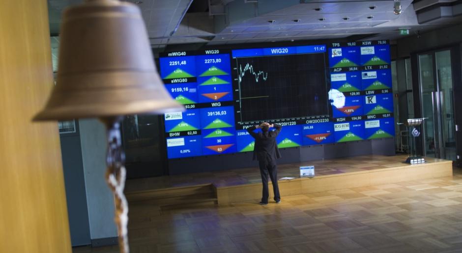 Na warszawskiej giełdzie główne indeksy w dół