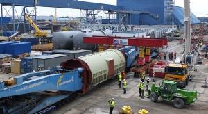 Tak przebiegał transport największego w Polsce generatora prądu