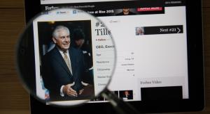 180 mln USD odprawy dla Rexa Tillersona od ExxonMobil