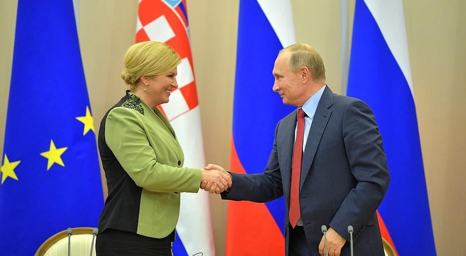 Rozmowy prezydent Chorwacji z Putinem m.in. o energetyce
