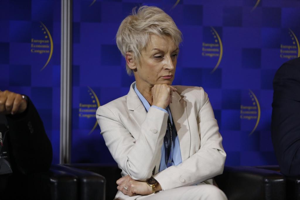 Małgorzata Ochęduszko-Ludwik wskazywała, że współpraca z Bengalem Zachodnim to także szansa dla małych i średnich firm. Fot. PTWP