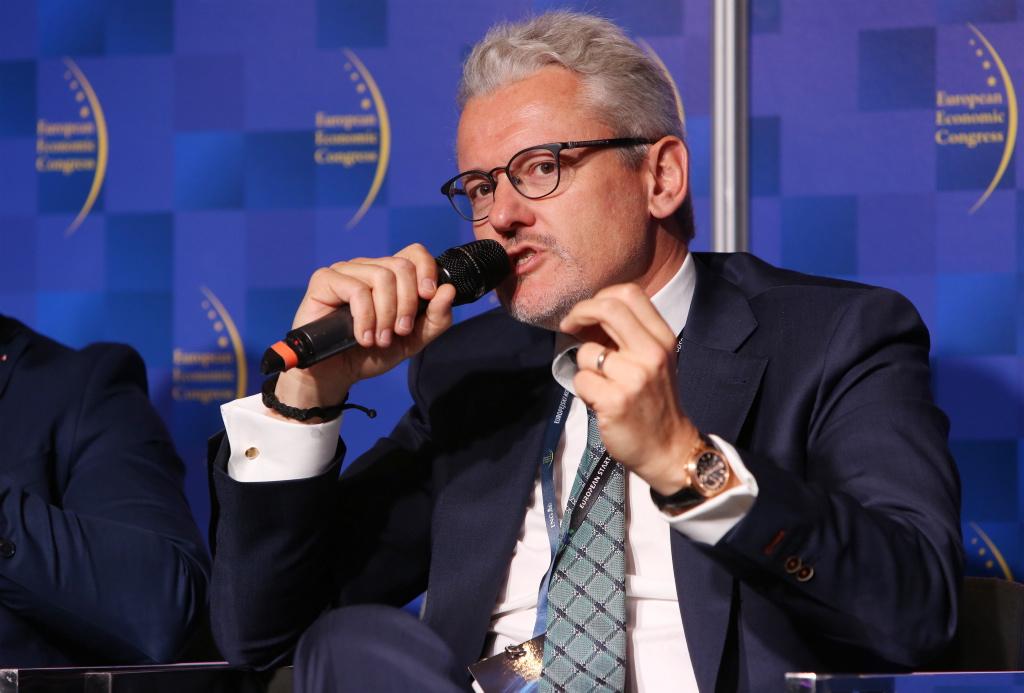 Markus Sieger, prezes zarządu Zakładów Farmaceutycznych Polpharma wskazywał m.in. na olbrzymie znaczenie odpowiednio prowadzonej dyplomacji gospodarczej. Fot. PTWP