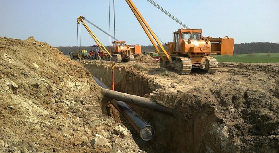 Odcinek gazociągu GIPL ułożony na granicy między Polską a Litwą.