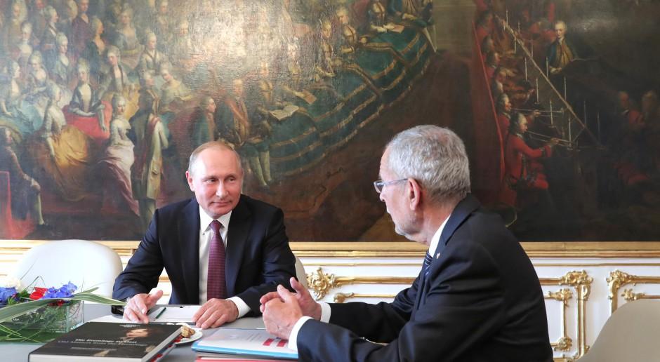 Putin przekonywał w Wiedniu do zniesienia sankcji