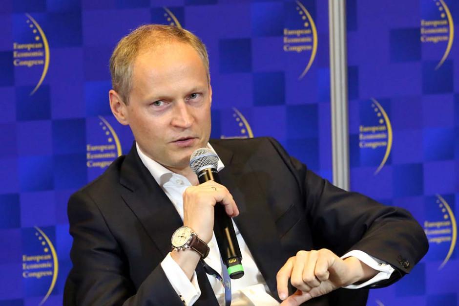 Adam Pers, wiceprezes zarządu ds. bankowości korporacyjnej i inwestycyjnej mBank SA. Fot. PTWP