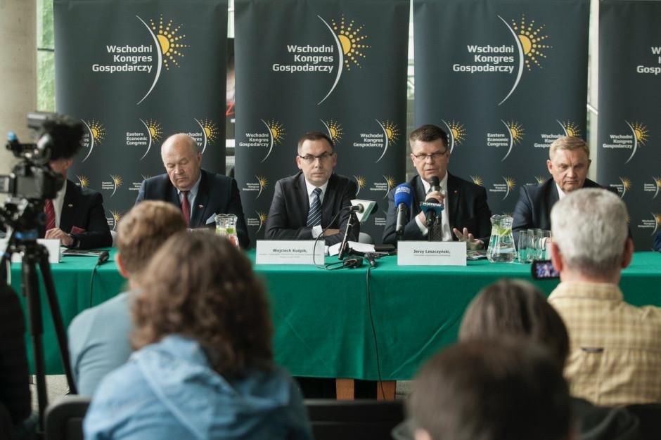 Konferencja prasowa zapowiadająca Wschodni Kongres Gospodarczy odbyła się w 25 czerwca w Białymstoku. Fot. PTWP (Paweł Pawłowski)