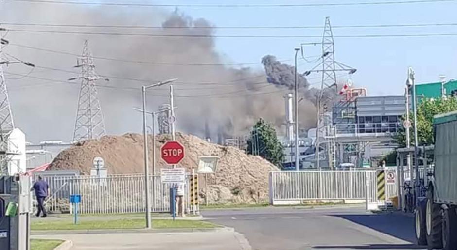 Pożar w fabryce Kronospanu w Mielcu