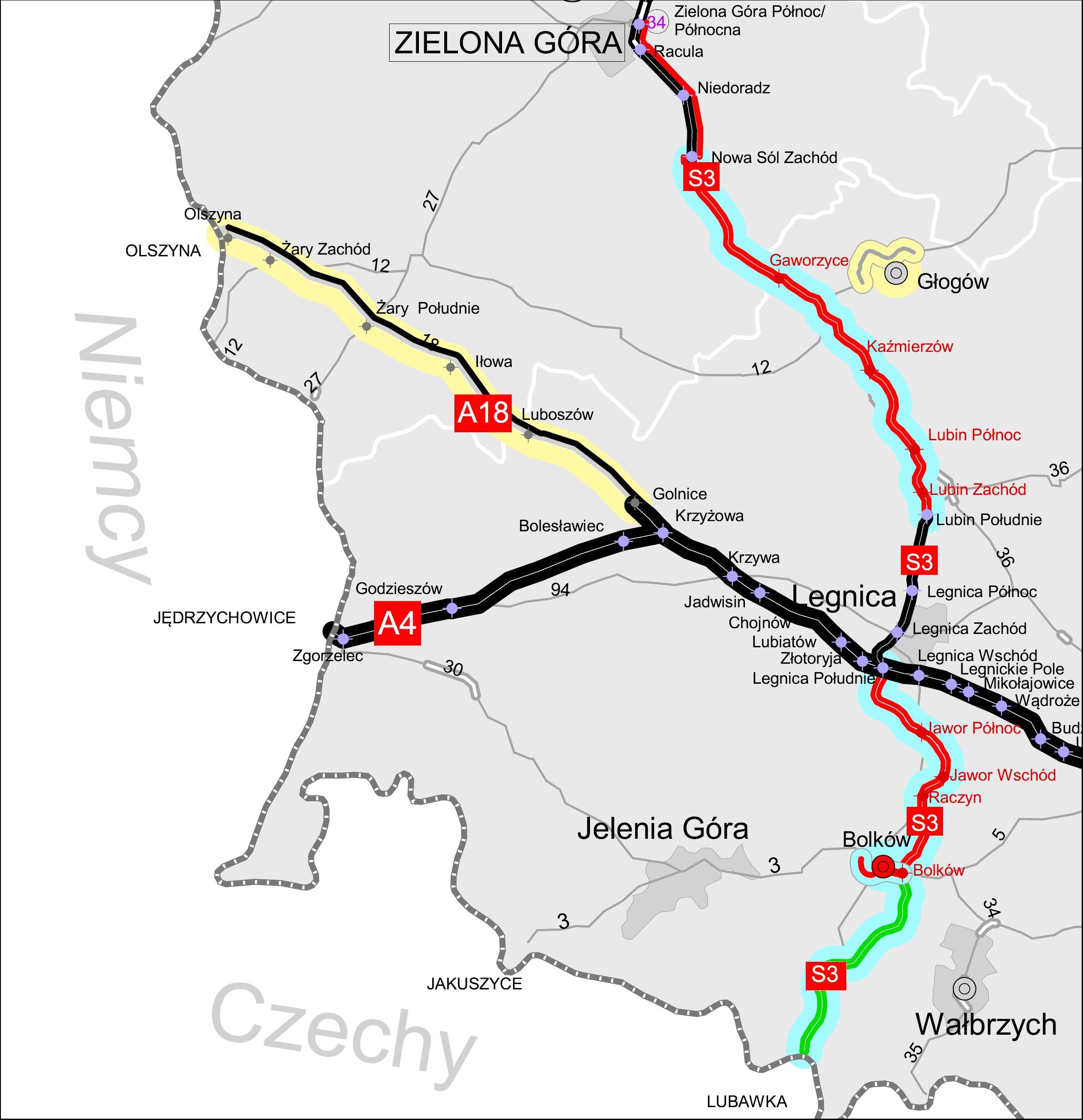 Droga A18 prowadzi do granicy Polski z Niemcami (źródło: mat. pras.)