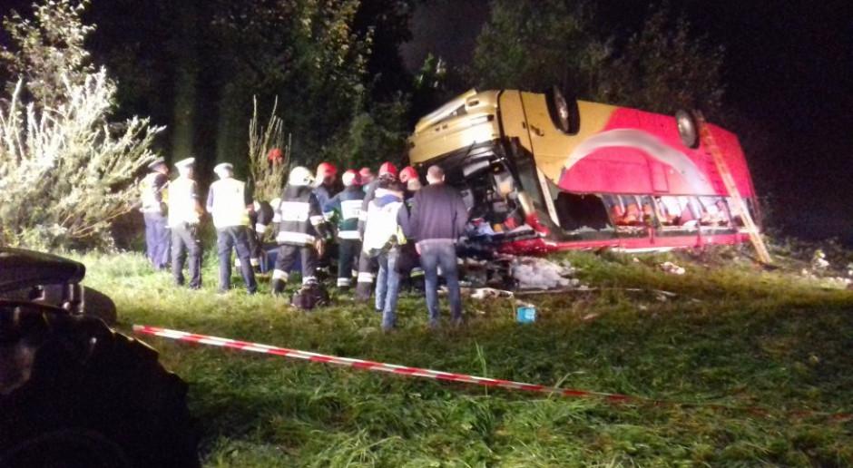 Trzy osoby zginęły w wypadku ukraińskiego autokaru na Podkarpaciu