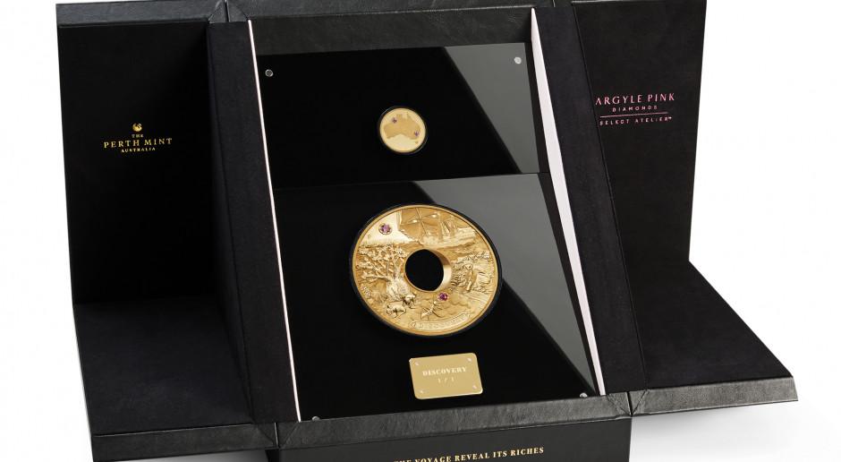 W Australii powstała moneta wysadzana diamentami
