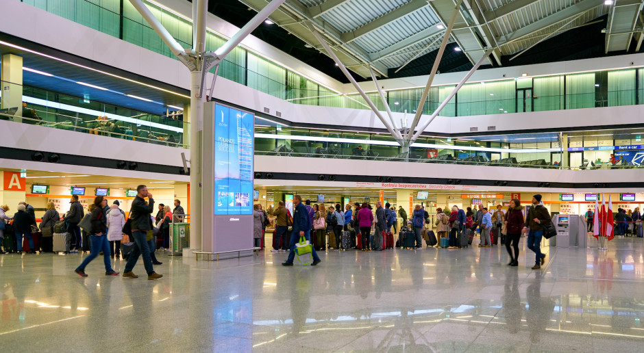 Polskie lotniska obsłużyły rekordową liczbę 46 mln pasażerów