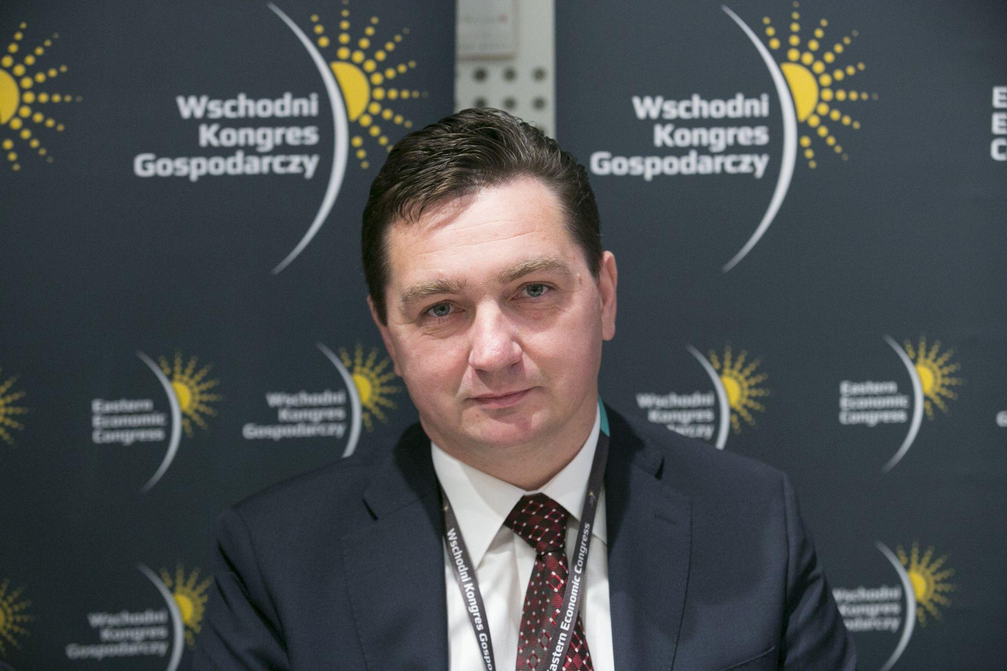 Tomasz Kozłowski, prezes Podlaskiego Związku Pracodawców, prezes Wschodniego Klastra Budowlanego, fot. PTWP