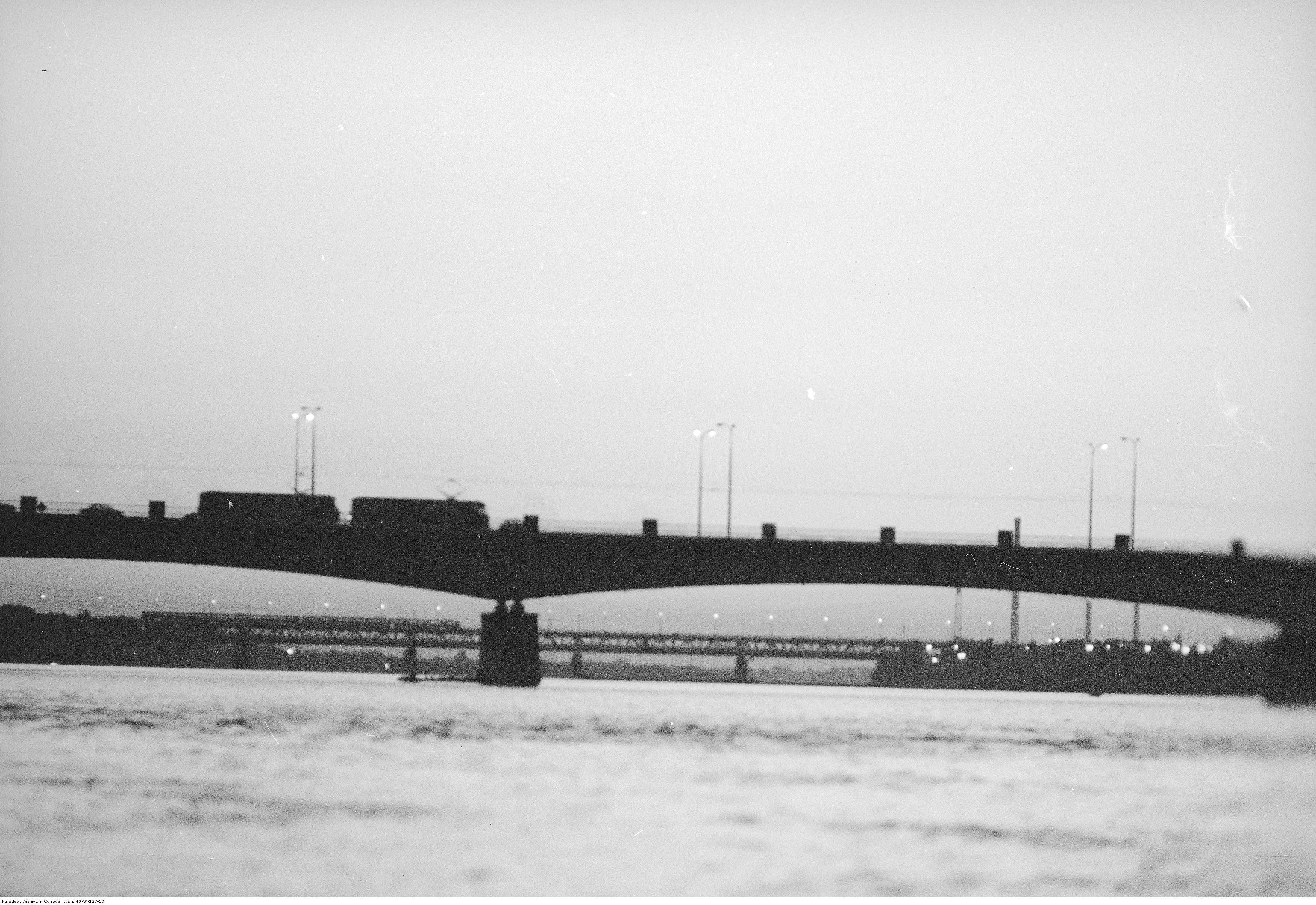 Rok 1973. Most Śląsko-Dąbrowski w Warszawie. fot. Narodowe Archiwum Cyfrowe