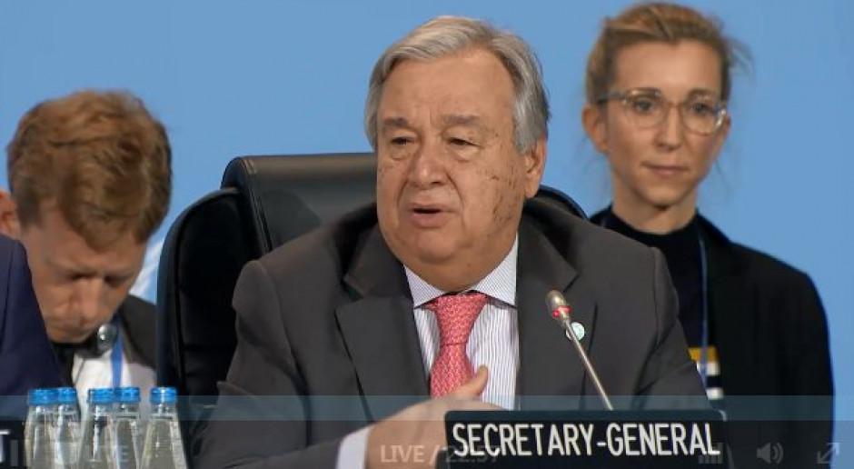 Sekretarz Generalny ONZ wzywa UE do większej redukcji emisji CO2
