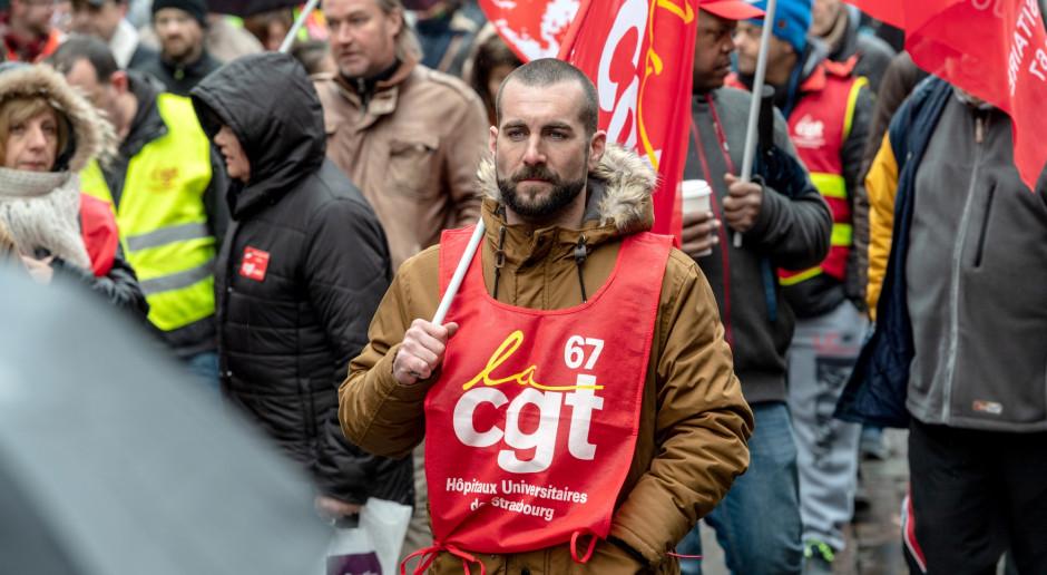 Po wystąpieniu Macrona centrala związkowa CGT wezwała do strajku