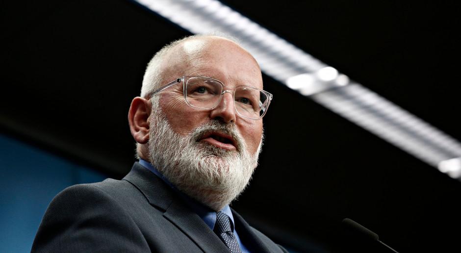 Timmermans reaguje na słowa Trzaskowskiego. Transformacja energetyczna będzie pod nadzorem