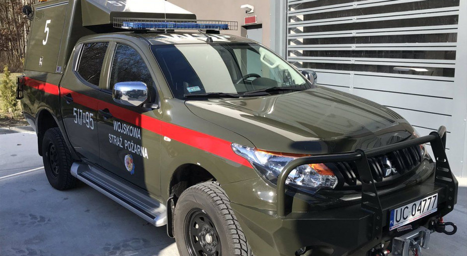 Mariusz Błaszczak przekazał nowe wozy Wojskowej Straży Pożarnej