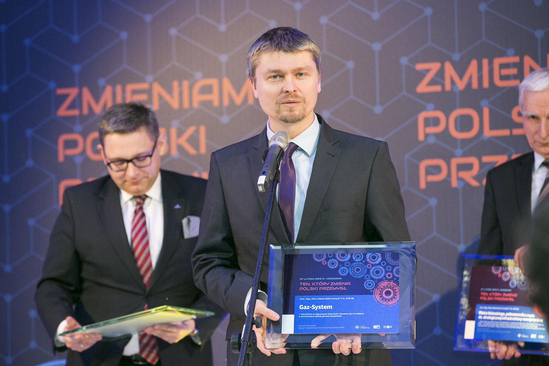 Prezes Gaz-Systemu Tomasz Stępień