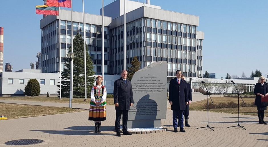 Premier Mateusz Morawiecki: Możejki to żywy pomnik Lecha Kaczyńskiego