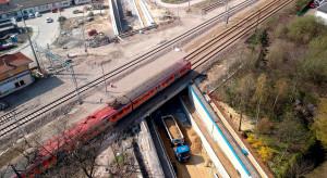 Nowy wiadukt kolejowy w Krakowie na ukończeniu
