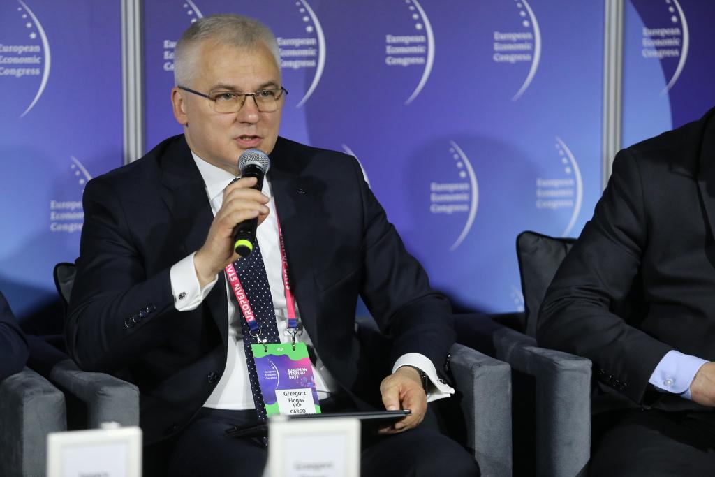 Grzegorz Fingas, członek zarządu PKP Cargo ds. handlowych (fot. PTWP)