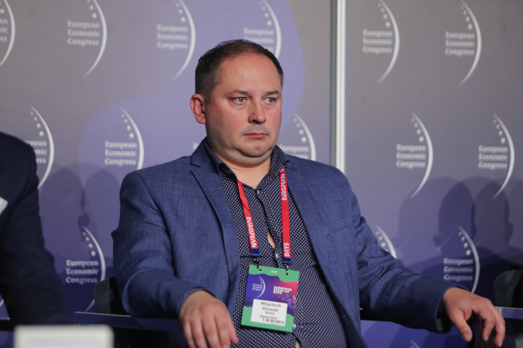Wojciech Drożdż, wiceprezes zarządu ds. innowacji i logistyki w Enea Operator. Fot. PTWP