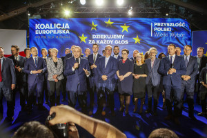 Koalicja Europejska przegrywa z PiS. Jak to przyjęto w sztabie wyborczym?