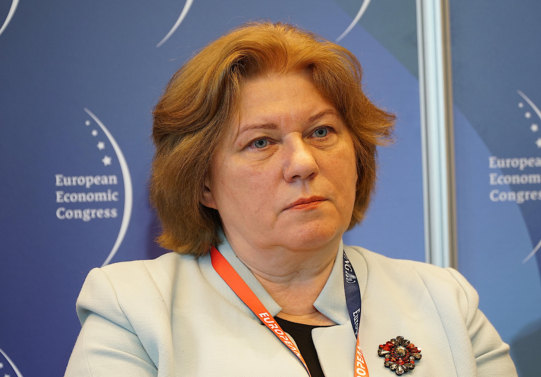 """Jadwiga Dyktus, prezes Towarzystwa Finansowego """"Silesia"""". Fot. PTWP"""