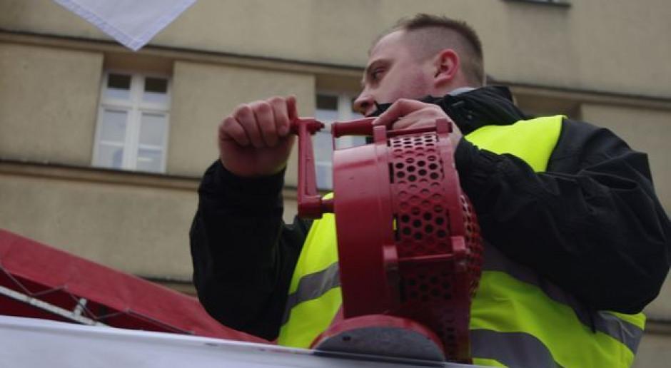 Związkowcy JSW pikietowali przed biurem europosłanki
