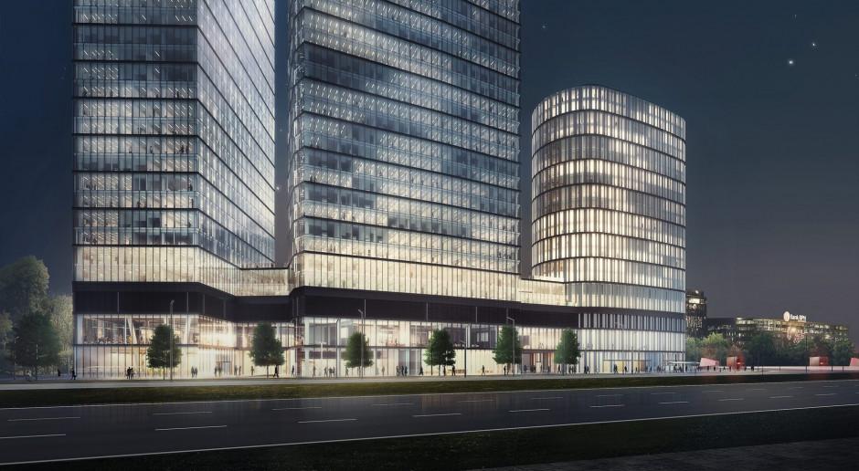 Robotnicy wrócili na budowę The Warsaw Hub