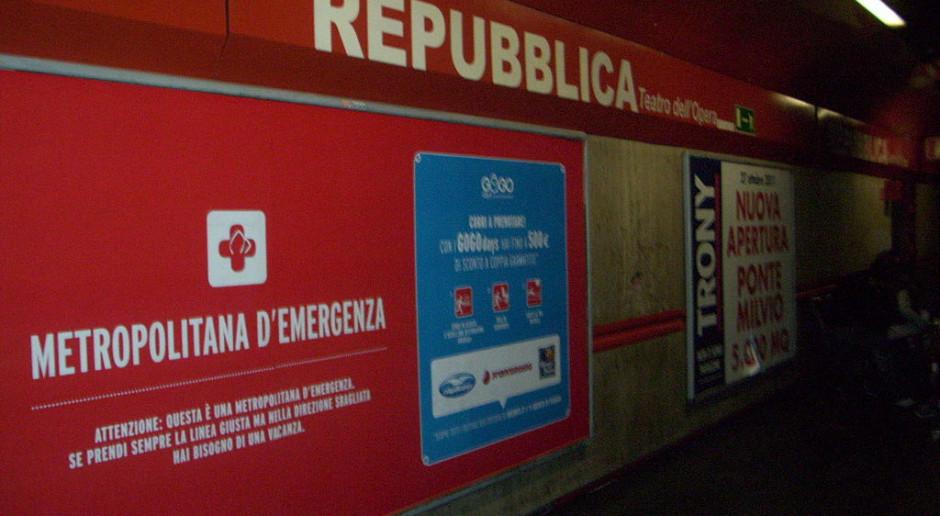 Włosi walczą z awariami ruchomych schodów na stacjach metra