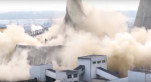 Stare chłodnie elektrowni Taurona zrównane z ziemią. Zobacz jak to wyglądało