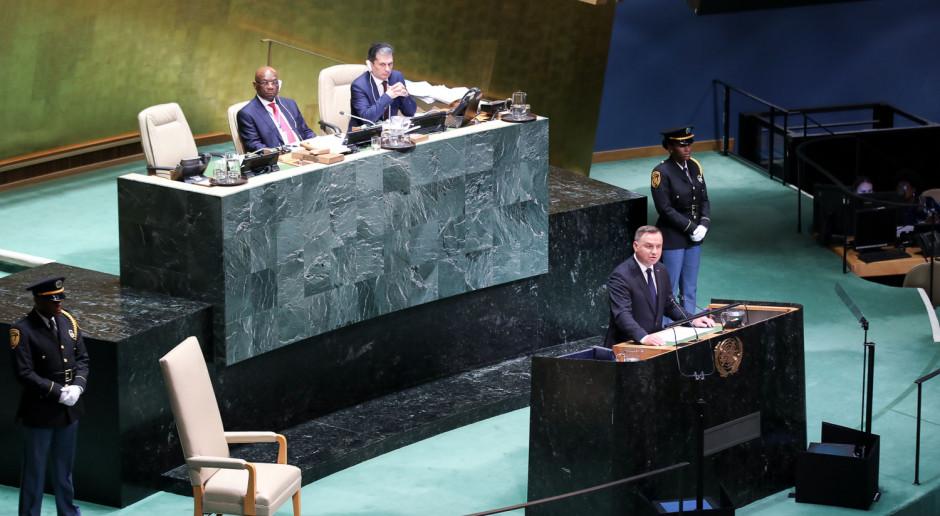 Andrzej Duda przedstawił w ONZ działania Polski na rzecz ochrony środowiska