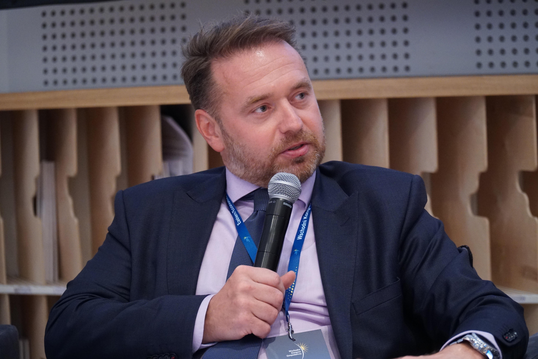 Patryk Borzęcki z Europejskiego Banku Odbudowy i Rozwoju (Fot. PTWP)