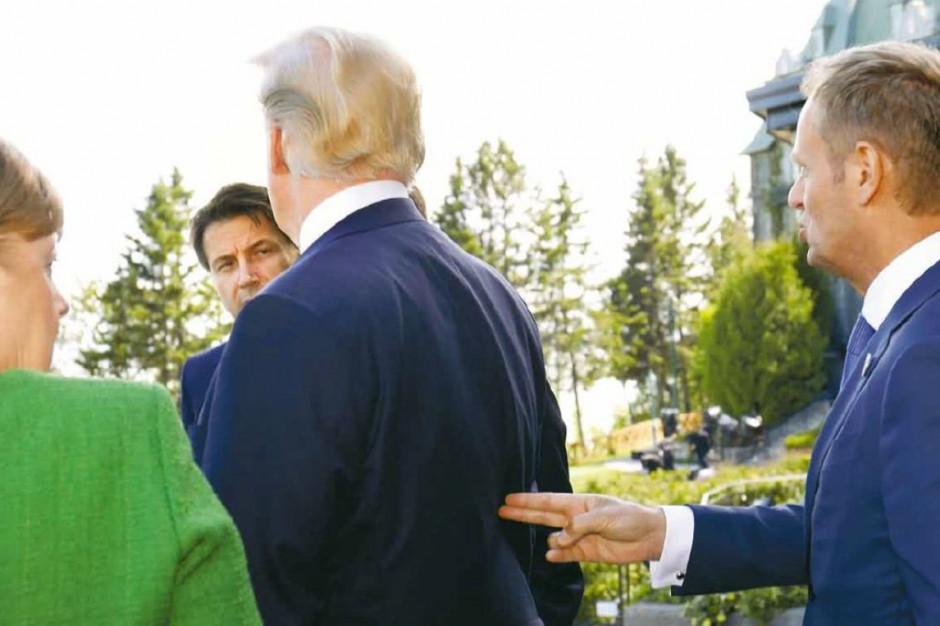 """Tusk """"celuje"""" w plecy Trumpa i pisze o sezonowych turbulencjach w relacjach"""