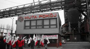 Kolejna pikieta przed siedzibą Huty Pokój. Związkowcy nie rezygnują z głodówki