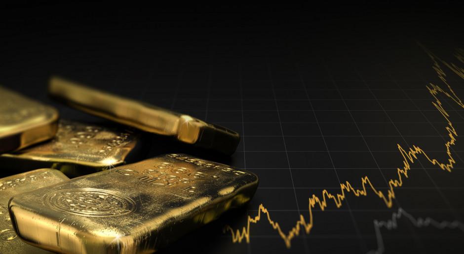 Mocna korekta na złocie