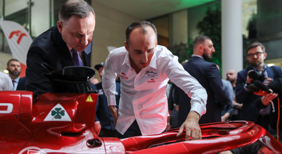 Prezydent Duda oglądał bolid Alfy Romeo