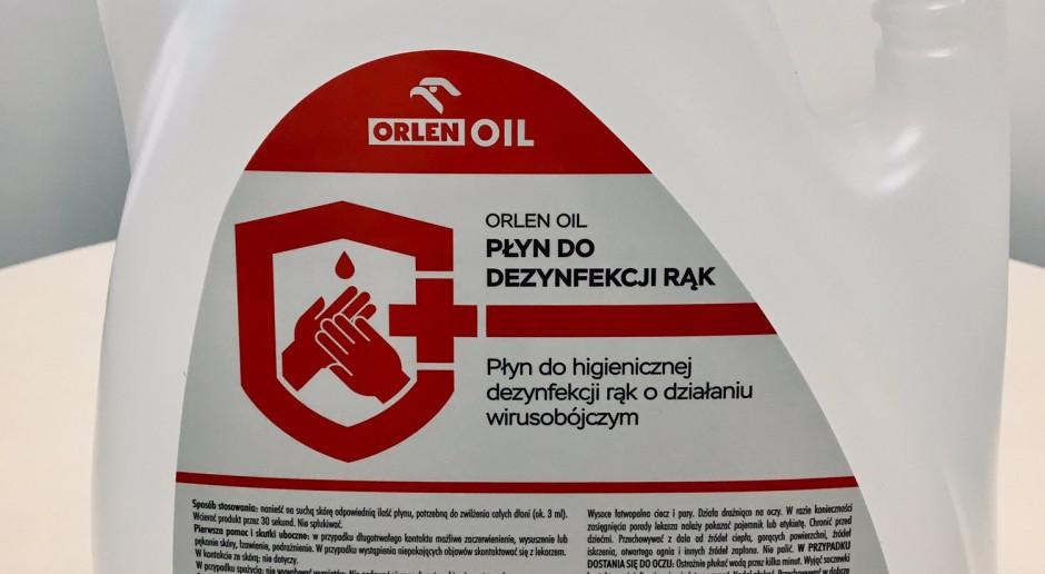 Orlen uruchomił drugą linię produkcyjną płynu do dezynfekcji rąk