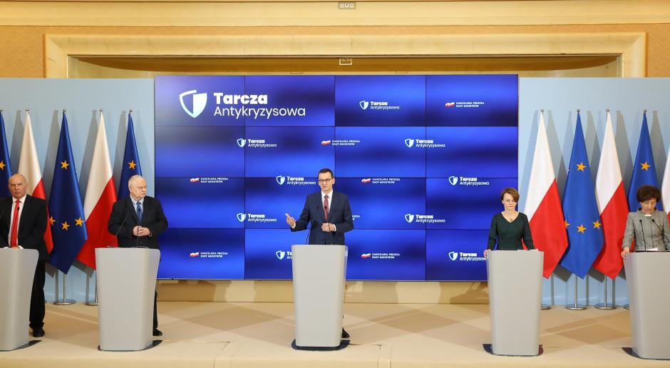 Tarcza antykryzysowa. Premier, ministrowie i prezes NBP przedstawili szczegóły